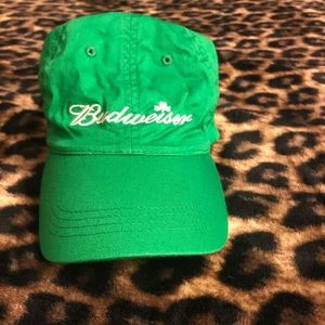Green 🍀 Cotton Budweiser Hat